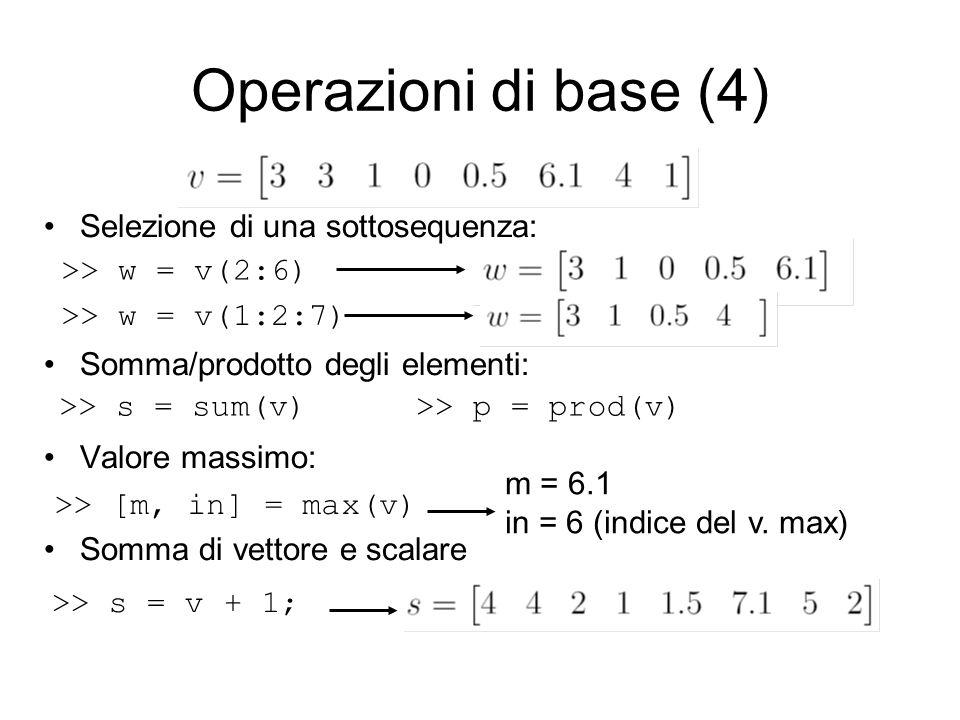 >> [m, in] = max(v)